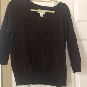 Neiman Marcus Chocolate Brown Sweater